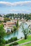 Bern Switzerland no fim do verão Foto de Stock Royalty Free