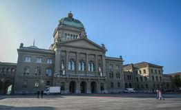 Parliament Building in Bern, Switzerland royalty free stock images
