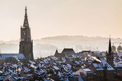 Bern. In Switzerland, from the Rosengarten royalty free stock images