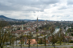 Bern - Switzerland. Sight of the Aare from the hills at Bern, Switzerland royalty free stock images
