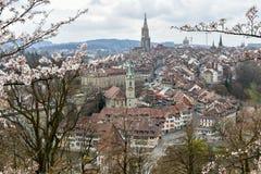 Bern - Switzerland. Sight of Bern from the hills, Switzerland stock image