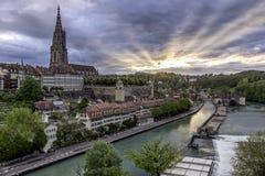 Bern Switzerland Sunrise Fotografía de archivo libre de regalías