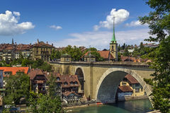 Bern, Switzerland. View of Bern old town and bridge over the Aare river, Switzerland stock photos