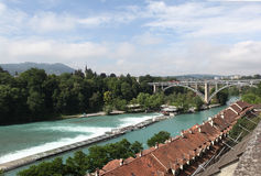 Bern.Vid on the Aare. Royalty Free Stock Image
