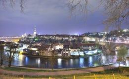 Bern vid natt Arkivfoto