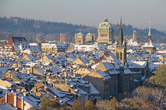 Bern in winter Royalty Free Stock Photo