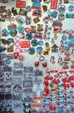 Bern, Zwitserland - Oktober 17, 2017: Een reusachtig aantal kentekens, m Royalty-vrije Stock Foto