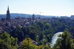 Berna e Aare Fotografia de Stock Royalty Free