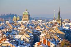 Berna nell'inverno Fotografia Stock