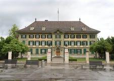 Berna, Suíça - 4 de junho de 2017: O headquart cantonal da polícia Fotos de Stock