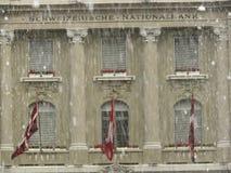 Berna, Suiza 08/02/2009 Fachada de National Bank imágenes de archivo libres de regalías
