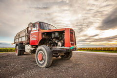 Berna Truck I. Satigny, Geneva, Switzerland. The Swiss made old Berna truck. This truck was used mainly for transportation of goods and was very popular in royalty free stock photo