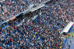 Bernabeu Spectators Royalty Free Stock Images