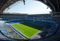 Bernabeu Stadium in Madrid. Bernabeu Stadium. Home stadium of Real Madrid. For articles about football, or the Real Madrid team stock images