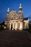 Bernandine Church at Night in Krakow Stock Photo