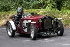 Bernard Cowley in the Austin 7 Special Royalty Free Stock Photos