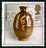 Bernard Leach Pottery UK Postage Stamp Royalty Free Stock Images