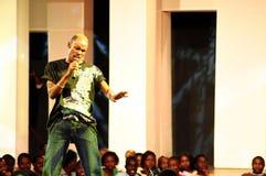 Bernard Nganga Maranga esegue Fotografie Stock