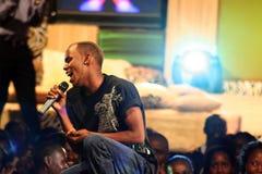 Bernard Nganga Maranga esegue Fotografie Stock Libere da Diritti