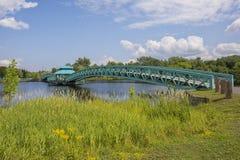 Bernard Valcourt Pedestrian Bridge, Edmundston fotos de archivo