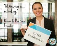 Bernarda, WEAmericas participant from Ecuador Stock Image