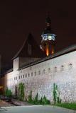 bernardine防御塔墙壁 库存图片
