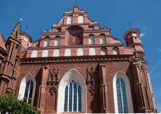 Bernardine Catholic church. Vilnius Royalty Free Stock Photos