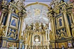 Bernardine Church interna Fotografia Stock Libera da Diritti