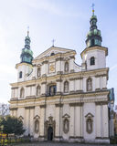 Bernardine Church in Krakow Royalty Free Stock Image