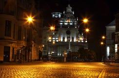 Bernardine Church in Lviv. By night Stock Photography