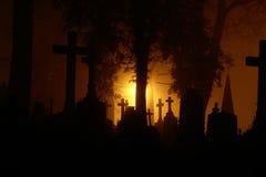 Bernardine graveyard. Graveyard at night in Lithuania, Vilnius Royalty Free Stock Photography