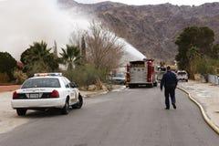 bernardino California załoga ogień San fotografia stock