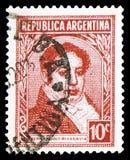 Bernardino Rivadavia, polityk, Sławny Argentinians seria około 1939, (1780-1845) fotografia royalty free