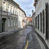 Bernardinu street in Vilnius Royalty Free Stock Photography