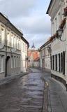 Bernardinu street in Vilnius Stock Photos