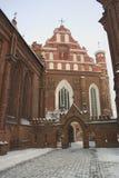 Bernardinu Winter. Bernardinu church in winter.   Vilnius, Lithuania Royalty Free Stock Photography