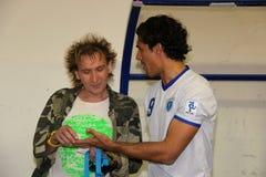 Bernardo Corradi en Paolo Solange Royalty-vrije Stock Foto's