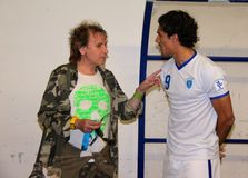 Bernardo Corradi y Paolo Solange Imagen de archivo libre de regalías