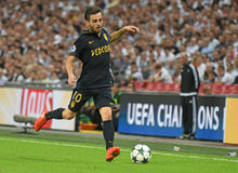 Bernardo Silva. Football players pictured during the 2016/17 UEFA Champions League Group E game between Tottenham Hotspur and AS Monaco on September 14, 2016 at Royalty Free Stock Images