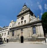 Bernardyński kościół i monaster w Lviv, Zachodni Ukraina Zdjęcie Stock