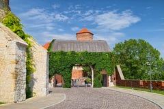 Bernardynska port av Wawel den kungliga slotten, Krakow, Polen Fotografering för Bildbyråer