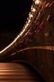 Bernatka bridge over Vistula river in night in city of Krakow Royalty Free Stock Photos