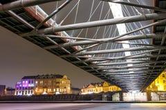 Bernatka footbridge over Vistula river in Krakow, Poland Royalty Free Stock Photography