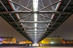 Bernatka footbridge over Vistula river in Krakow, Poland Royalty Free Stock Images