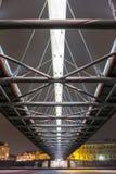 Bernatka footbridge over Vistula river Stock Image