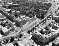 Bernauer Strasse en Berlín del este del aire imagen de archivo libre de regalías