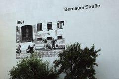 Bernauerstraat Stock Fotografie