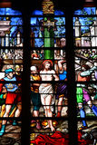 Bernay, France - 11 août 2016 : Église de Sainte Croix Photo libre de droits