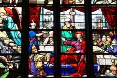 Bernay, France - 11 août 2016 : Église de Sainte Croix Images stock