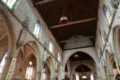 Bernay, Francia - 11 agosto 2016: Chiesa di Sainte Croix Immagine Stock